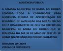 Audiência Publica do 1º Quadrimestre de 2017 das Mestas Fiscais ocorrerá em 30/05/2017 às 10 h.