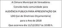 Audiência Publica LDO - 2018