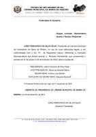 Comissão Representativa para o período do Recesso Parlamentar de 19.12.2019 à 03.03.2020