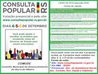 Consulta Popular 2019 execução 2020