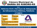 Inicia dia 10.06.2019 - Reforma da Câmara Municipal