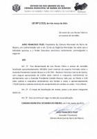 Presidente João Francisco Sanciona Lei 2.513/21.