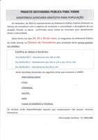 Projeto Defensoria Publica Para Todos - Na Câmara de Vereadores nos dias 24, 25 e 26 de maio.